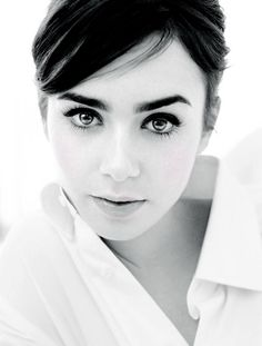 Lily Collins for Elle Russia