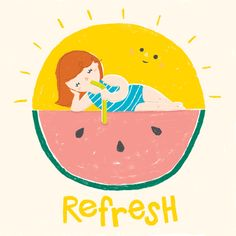 Love this summer illustration by @Anne To