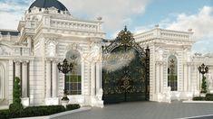 Best exterior designer US - luxury interior design company in California Classic House Exterior, Classic House Design, Dream House Exterior, Dream Home Design, Design Exterior, Facade Design, Interior Exterior, House Gate Design, Villa Design