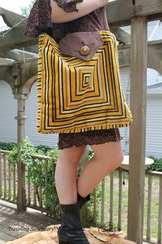 Hippie Velour Tote. Recycled Pillows. Wool by TravelingSanctuary, $35.00