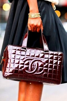 Burdeos & Charol Chanel Bag