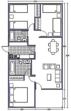 Planos de departamentos y negocio en el primer piso en for Planos de casas 8x15