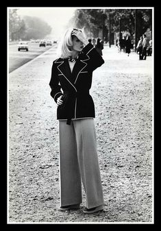 Fashion by Yves Saint Laurent, photo by Helmut Newton, Paris, 1971