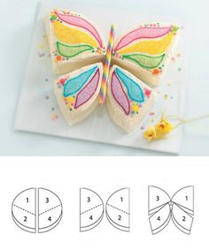 How to Make a Butterfly Cake from Betty Crocker - includes a video. This is the cake I want for my birthday :) Easy Kids Birthday Cakes, Butterfly Birthday Cakes, Butterfly Cakes, 10 Birthday, Butterflies, Colorful Birthday, Women Birthday, Summer Birthday, Special Birthday