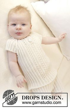 74e7cb68abfd1 Ravelry  B25-31 Simply Sweet Singlet pattern by DROPS design Free Baby  Patterns