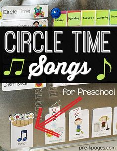 Time Tips for Pre-K Teachers Circle Time Songs for Preschool. How to give your kids choices during circle time in Pre-K or Preschool.Circle Time Songs for Preschool. How to give your kids choices during circle time in Pre-K or Preschool. Preschool Programs, Preschool Music, Preschool Lessons, Preschool Kindergarten, Preschool Learning, Preschool Ideas, Preschool Education, Early Education, Preschool Routine
