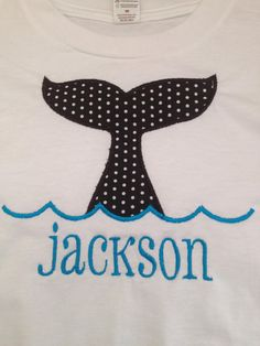 Whale Applique Tshirt by lollysloves on Etsy, $20.00
