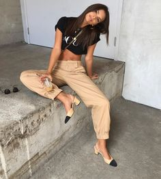 Spotted in #IAMGIA / @emrata wearing the Cobain pants. Shop the celeb look via link in bio