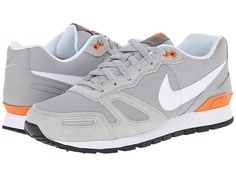Nike Air Waffle Leather Trainer Wolf Grey/Black/Copper Flash/White - Zappos
