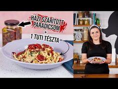 HÁZI SZÁRÍTOTT PARADICSOM 🍅 és egy tuti tészta🍝 - YouTube Cereal, Breakfast, Youtube, Street, Food, Kitchen, Morning Coffee, Cooking, Meal