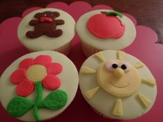 Kids cupcakes - fun cupcakes for children off all ages. Madhatterpartyfood.co.uk