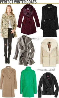 Free People Winter Coat | Free People cheetah coat / Vince Camuto burgundy coat / Vanessa Bruno ...