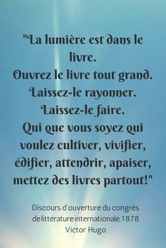 Le livre - Victor Hugo Beautiful French Words, Citations Victor Hugo, Proverbs Quotes, Belles Phrases, French Quotes, Book Reader, Poetry Books, World Of Books, Some Words