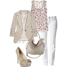 Flowered Top, created by styleofe on Polyvore