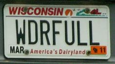 WS vanity license plate: WDRFULL' Another Name for God, & that's found in… Funny License Plates, Vanity License Plates, License Plate Art, Licence Plates, Bumper Stickers, Car Decals, Car Tags, Vanity Plate, Book Format