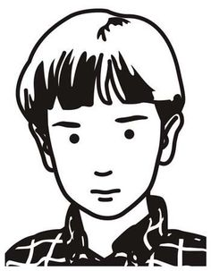 Raphael, schoolboy by Julian Opie Photograph: Julian Opie and Lisson Gallery/PR Simple Illustration, Portrait Illustration, Character Illustration, Graphic Design Illustration, Art Sketches, Art Drawings, Ligne Claire, Art Moderne, Baby Art