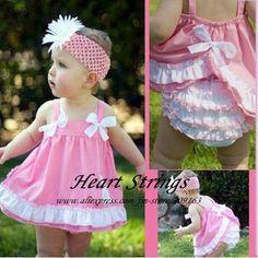 little girl free printable summer bloomers pattern | Baby Girl's Flower Pattern Summer Romper, Infant one piece Wear Romper ...