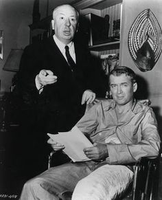 Two of the greats: Alfred Hitchcock and Jimmy Stewart