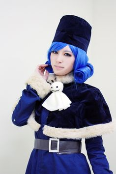 cosplay Juvia from fairytail. just lovely