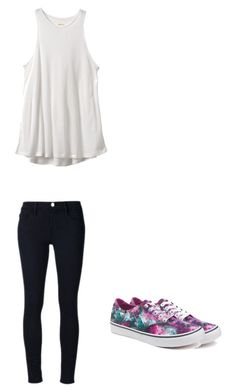 """Untitled #180"" by austynh on Polyvore featuring RVCA, Vans and Frame Denim"