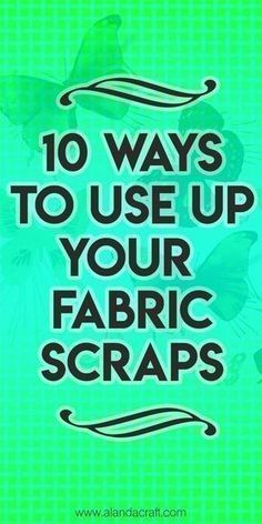Fabric Ideas 10 Ways to Use Up Your Fabric Scraps - Easy sewing patterns to use up those small scraps of fabric. FREE full step-by-step video and written instructions. Most are fast sewing projects. Great sewing ideas for gifts. Easy Sewing Projects, Sewing Projects For Beginners, Sewing Hacks, Sewing Crafts, Sewing Tips, Scrap Fabric Projects, Sewing Machine Projects, Baby Sewing Tutorials, Sewing Machine Tension