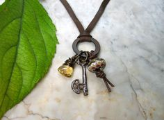 talisman necklace . . . by marthasrubyacorn on Etsy, $68.00