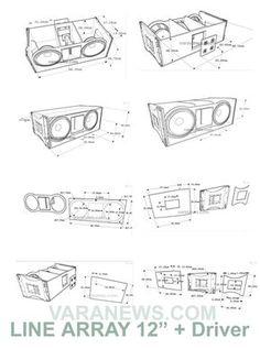 Skema Box Line Array 12 inch + Tweeter | Varanews.com 12 Inch Speaker Box, Speaker Box Diy, Diy Bluetooth Speaker, Pro Audio Speakers, Speaker Plans, Speaker Box Design, Diy Speakers, Hifi Audio, 12 Inch Subwoofer Box