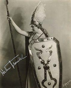 Subject: Helen Traubel Role: Brünnhilde in Wagner's Der Ring des Nibelungen Location: Metropolitan Opera, New York Date: 1941-1942 Photographer: J. Abresch