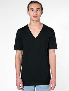 Men Organic Fine Jersey Short Sleeve V-Neck.