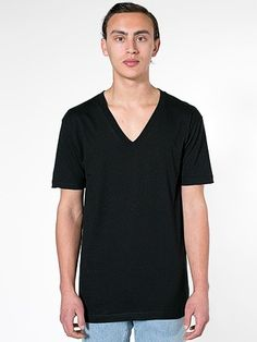 Men Organic Fine Jersey Short Sleeve V-Neck. Healthy Style, Ponte Pants, Jersey Shorts, American Apparel, Menswear, V Neck, Hoodies, Organic, How To Wear