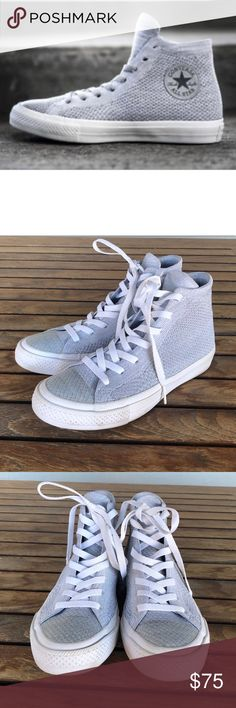 7e8fdfaea191d CONVERSE CHUCK TAYLOR ALL STAR X NIKE FLYKNIT W7 CONVERSE CHUCK TAYLOR ALL  STAR X NIKE FLYKNIT women s size 7 or men s 5. Wolf Grey Cool Grey White.
