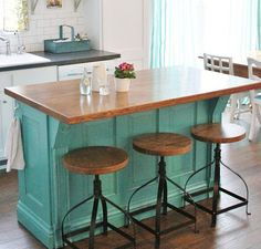 Island Concept with bar stools