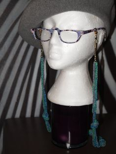 Under the sea bue/green eyeglass chain by TheFACEspace on Etsy, $10.00