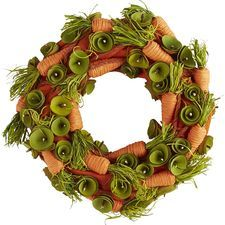 Carrot Wood Curl Wreath