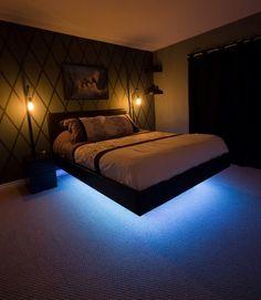 Bedroom Design: Floating Bed Made By /u/hurtsboyhurts   I.imgur.co.