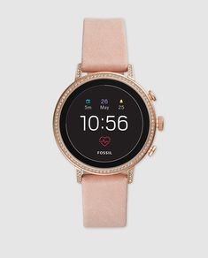 Looking for Fossil Q Venture HR Leather Strap Smart Watch, ? Check out our picks for the Fossil Q Venture HR Leather Strap Smart Watch, from the popular stores - all in one. Fossil Watches, Cool Watches, Watches For Men, Stylish Watches, Fine Watches, Women's Watches, Luxury Watches, Pink Leather, Smooth Leather