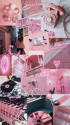 #aesthetic #pink #wallpaper #collage #aestheticwallpaper #