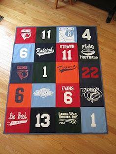 Little League Quilt  - - use your child's outgrown jerseys. | CC Quilts