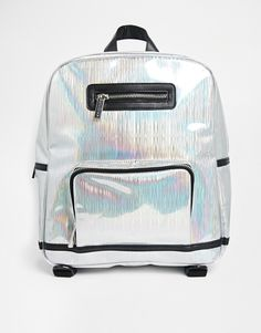 Shop New Look Laser Soft Side Tote at ASOS. Unique Backpacks, Little Backpacks, Asos, Indie Fashion, Glam Rock, Soft Grunge, Backpack Bags, Tech Accessories, Purses And Bags