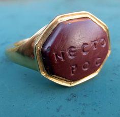 Sixth Century Red Jasper intaglio ring | PeterSzuhay