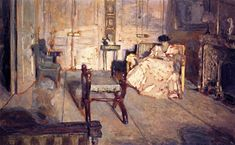 The white salon by Edouard Vuillard