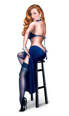 I want a pin-up tattoo, just haven't decided on what type of woman yet