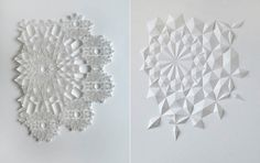 Сложнейшие скульптуры из бумажных листов.