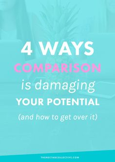 Why Comparison Is Damaging Your Creative Potential (And How to Get Over It) | With social media, blogs, and the online world, comparison is eeeeverywhere, right?! It can be so hard to feel like you've succeeded when you stop to compare yourself to what everyone else is doing online. Here are 4 ways comparison sucks and how to totally move on.