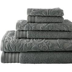 Scrolling Jacquard Bath Towels.