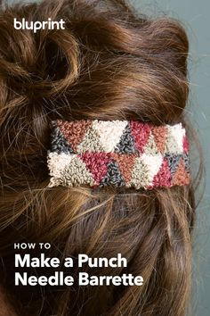 Make a Punch Needle Barrette and Rock Your Next Updo – Hair Accessories Diy 2020 Wedding Accessories For Bride, Hair Accessories For Women, Bridal Hair Accessories, Kayak Accessories, Easy A, Diy Scarf, Metal Hair Clips, Wedding Hair Clips, Textiles