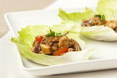 Asian Chicken Lettuce Wraps http://www.coconutoil.best/recipes/asian-chicken-lettuce-wraps/