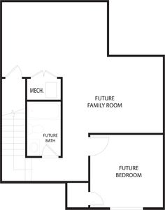Georgia Ivory Homes TOWNHOME floor plan - Basement Level