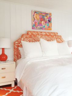 Hable Construction's Ropes upholstered headboard