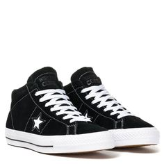 caabd1f0af7 Converse One Star Pro Suede Mid Black White Black Converse One Star